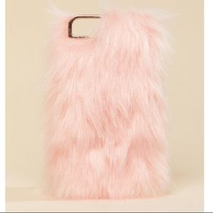 Skinny Dip London Pink Fluffy iPhone Case